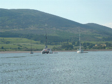 Yachts in creek at Carsethorn